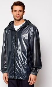 Czarna kurtka Rains krótka w stylu casual