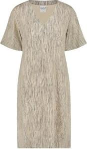 Sukienka Simple z krótkim rękawem mini z dekoltem w kształcie litery v