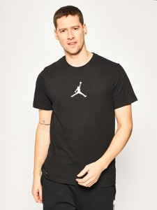 Czarny t-shirt Nike z nadrukiem z krótkim rękawem