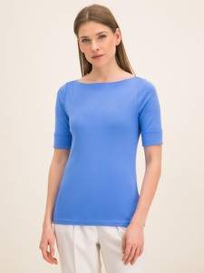 Niebieski t-shirt Ralph Lauren w stylu casual