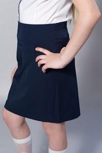 Granatowa spódniczka dziewczęca Winigra z tkaniny