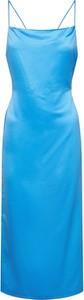 Niebieska sukienka Leger By Lena Gercke prosta maxi na ramiączkach