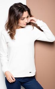 Bluzka Katrus z dresówki z długim rękawem w stylu casual