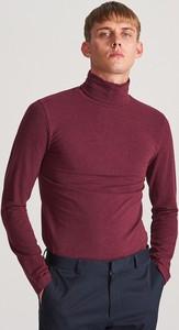 Czerwona koszulka z długim rękawem Reserved z długim rękawem