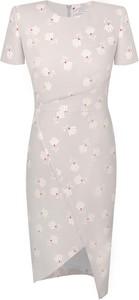 Sukienka Prettyone asymetryczna z okrągłym dekoltem