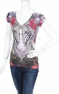 Bluzka Mikk Couture w młodzieżowym stylu z okrągłym dekoltem