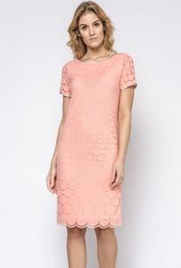 d63879ccdb sukienka koronkowa koralowa - stylowo i modnie z Allani