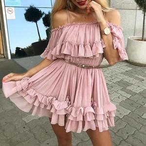 Sukienka Miandmolly z krótkim rękawem hiszpanka