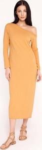 Żółta sukienka Byinsomnia z bawełny