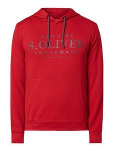 Czerwona bluza S.Oliver Red Label z nadrukiem z bawełny