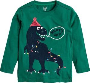 Zielona bluzka dziecięca Cool Club z bawełny z długim rękawem
