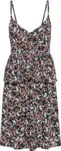 Sukienka bonprix BODYFLIRT z dekoltem w kształcie litery v midi