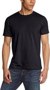 Czarny t-shirt Camel Active z krótkim rękawem z bawełny