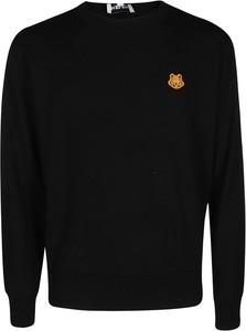 Czarny sweter Kenzo w stylu casual z wełny z okrągłym dekoltem