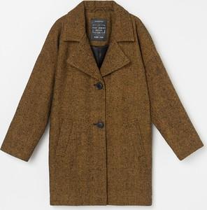 Brązowy płaszcz dziecięcy Reserved