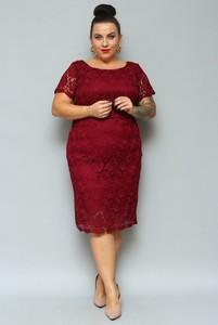 Sukienka Grandio z tkaniny ołówkowa midi
