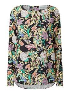 Bluzka Herzensangelegenheit w stylu casual z jedwabiu z okrągłym dekoltem