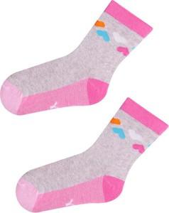 Różowe skarpetki YoClub z bawełny dla dziewczynek