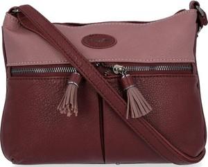 Czerwona torebka David Jones na ramię średnia w młodzieżowym stylu