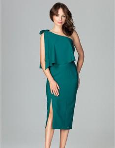 Zielona sukienka LENITIF bez rękawów midi