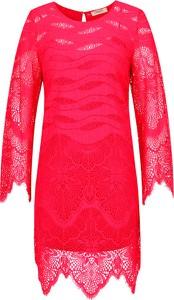 Sukienka Twinset z okrągłym dekoltem z długim rękawem