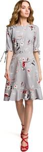 Sukienka MOE midi rozkloszowana w stylu casual