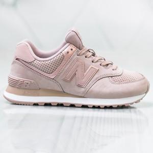 Różowe buty sportowe New Balance w sportowym stylu 574