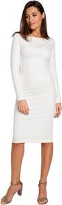 Sukienka Style midi ołówkowa z długim rękawem