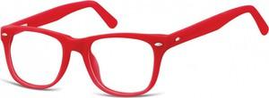 Sunoptic Okulary dziecięce zerówki Nerdy AK48 czerwone