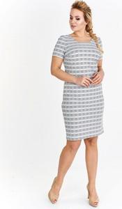 Sukienka Fokus z krótkim rękawem mini ołówkowa
