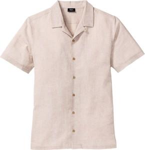 Koszula bonprix bpc bonprix collection z klasycznym kołnierzykiem z krótkim rękawem