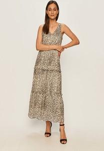 Sukienka Vero Moda midi z dekoltem w kształcie litery v na ramiączkach