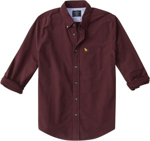 Koszula Abercrombie & Fitch z bawełny z długim rękawem