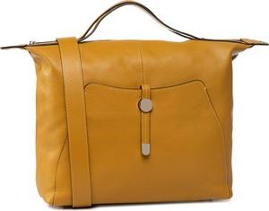 Żółta torebka eobuwie.pl duża na ramię matowa