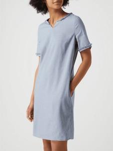 Sukienka Montego z lnu mini z krótkim rękawem