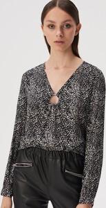 Bluzka Sinsay z dekoltem w kształcie litery v z długim rękawem w stylu casual