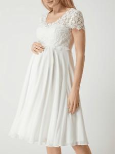 Sukienka Luxuar Fashion z krótkim rękawem z dekoltem w kształcie litery v