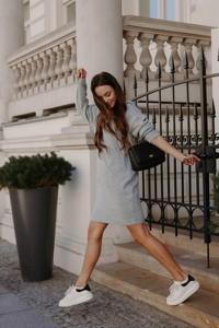Sukienka Lemoniade z długim rękawem z bawełny mini