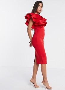 Czerwona sukienka True Violet