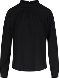 Czarna bluzka Figl z długim rękawem w stylu casual