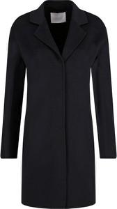 Czarny płaszcz Boss z wełny