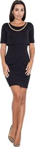 Czarna sukienka Figl dopasowana mini