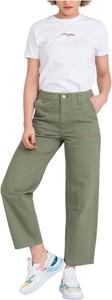 Zielone spodnie Lee z bawełny
