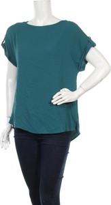 Zielona bluzka Dorothy Perkins z okrągłym dekoltem z krótkim rękawem