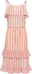 Różowa sukienka bonprix BODYFLIRT
