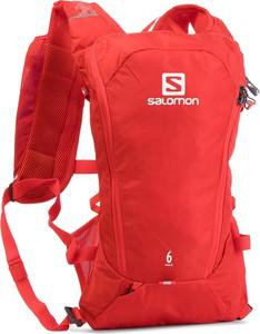 Czerwony plecak Salomon z tkaniny