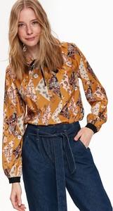 Bluzka Top Secret w stylu retro z długim rękawem ze sznurowanym dekoltem