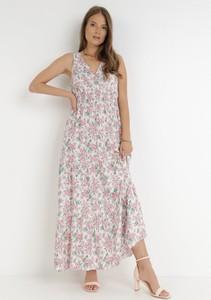 Sukienka born2be bez rękawów z dekoltem w kształcie litery v maxi