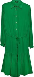 Zielona sukienka ECHO z długim rękawem