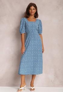 Niebieska sukienka Renee midi
